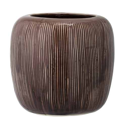Image of   Bloomingville Vase, Brun, Stentøj Ø19,5xH19,5 cm