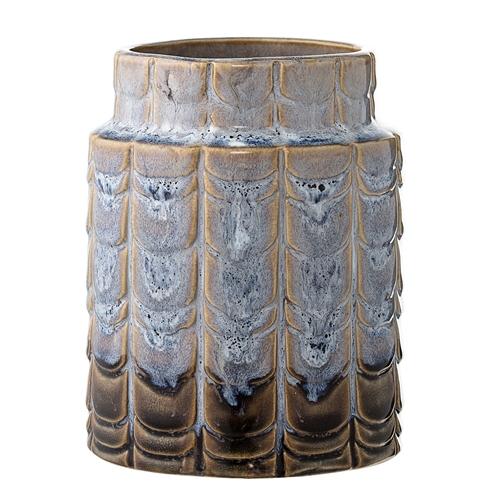 Image of   Bloomingville Vase, Blå, Stentøj Ø10xH12,5 cm