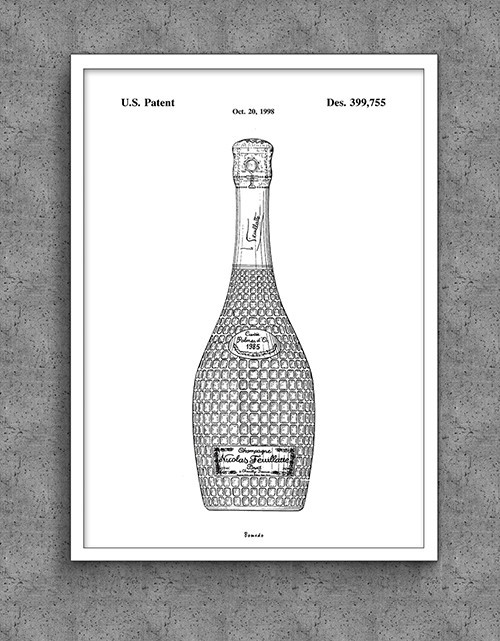 Plakat Bomedo Champagneflaske (A2)
