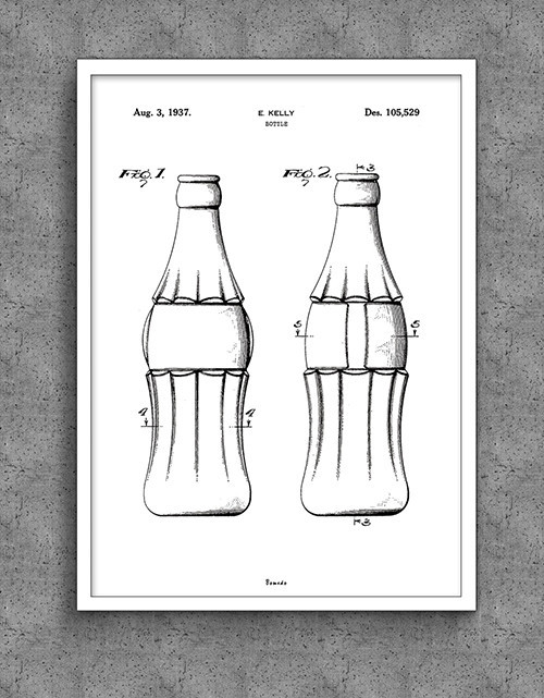Plakat Bomedo Coca-Cola Flaske (A2)