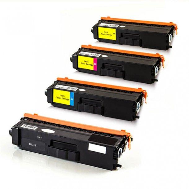 Brother TN375 combo pack 4 stk lasertoner BK/C/M/Y 16500 sider