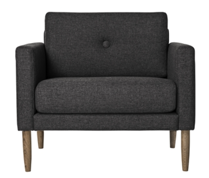 Image of   Bloomingville Calm chair (Dark grey)