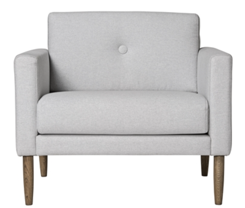 Image of   Bloomingville Calm chair (Light grey)