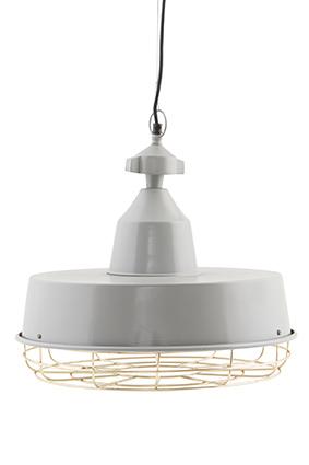 Image of   House Doctor Lampe, Gasby - dia.: 40 cm, h.: 40 cm. Grøn, grå el. mat jernfinish grå/messing