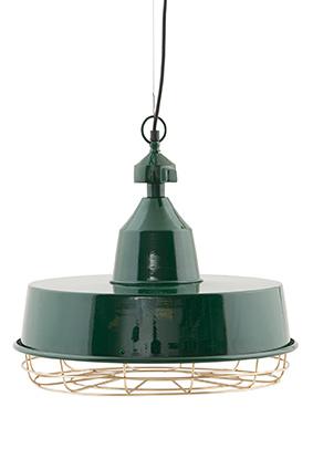 Image of   House Doctor Lampe, Gasby - dia.: 40 cm, h.: 40 cm. Grøn, grå el. mat jernfinish grøn/messing