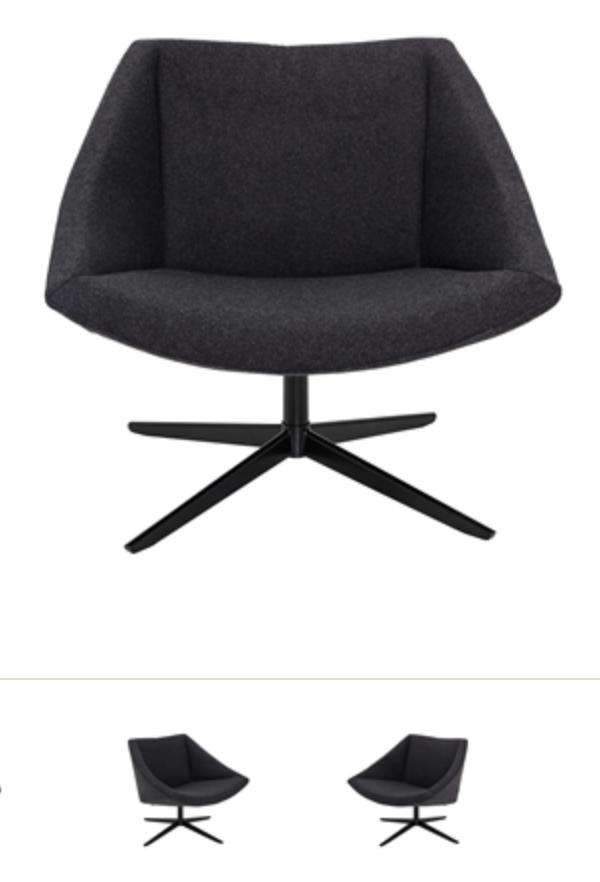 Image of   Bloomingville The elegant chair (Dark grey)