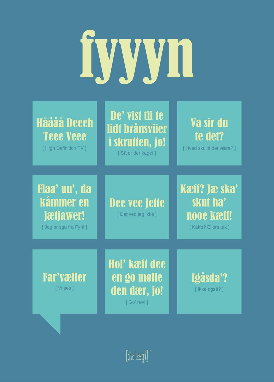 Image of   Dialægt Fyyyn Plakat 50x70 cm