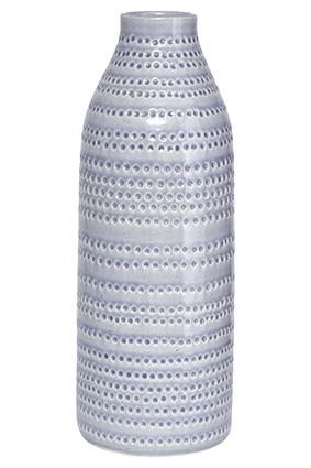 House Doctor Vase, Circles, grå, dia.: 14,5 cm, h.: 42 cm