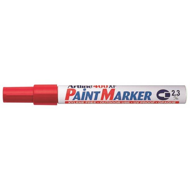 Artline Marker 400XF Paint röd, 12 st