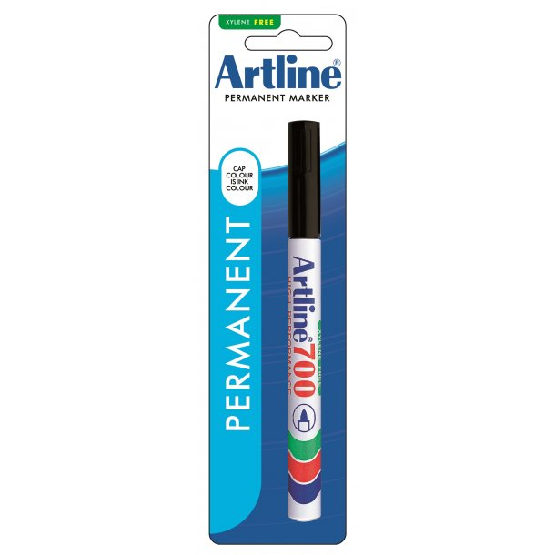 Artline 700 Permanent 1-blister svart, 12 st