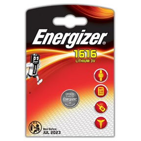 Image of   Energizer Lithium CR1616 batteri