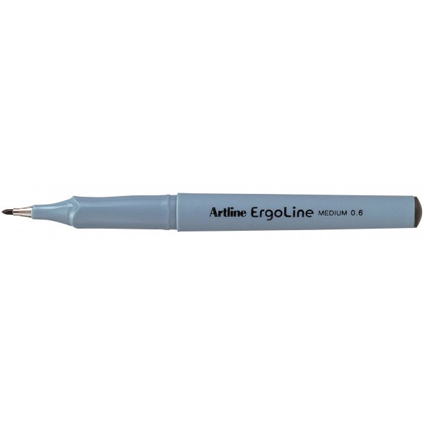 Artline Fineliner Ergoline M 0,6 svart, 12 st