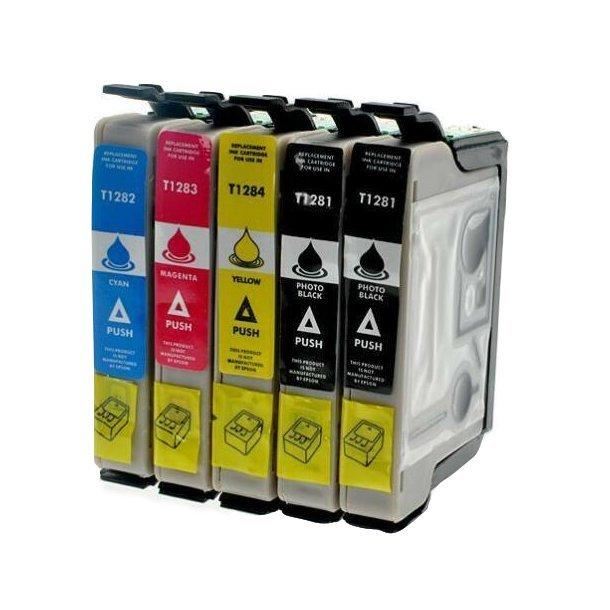 Epson T1281 /T1282 /T1283 /T1284, Sampak 5 stk (69 ml)