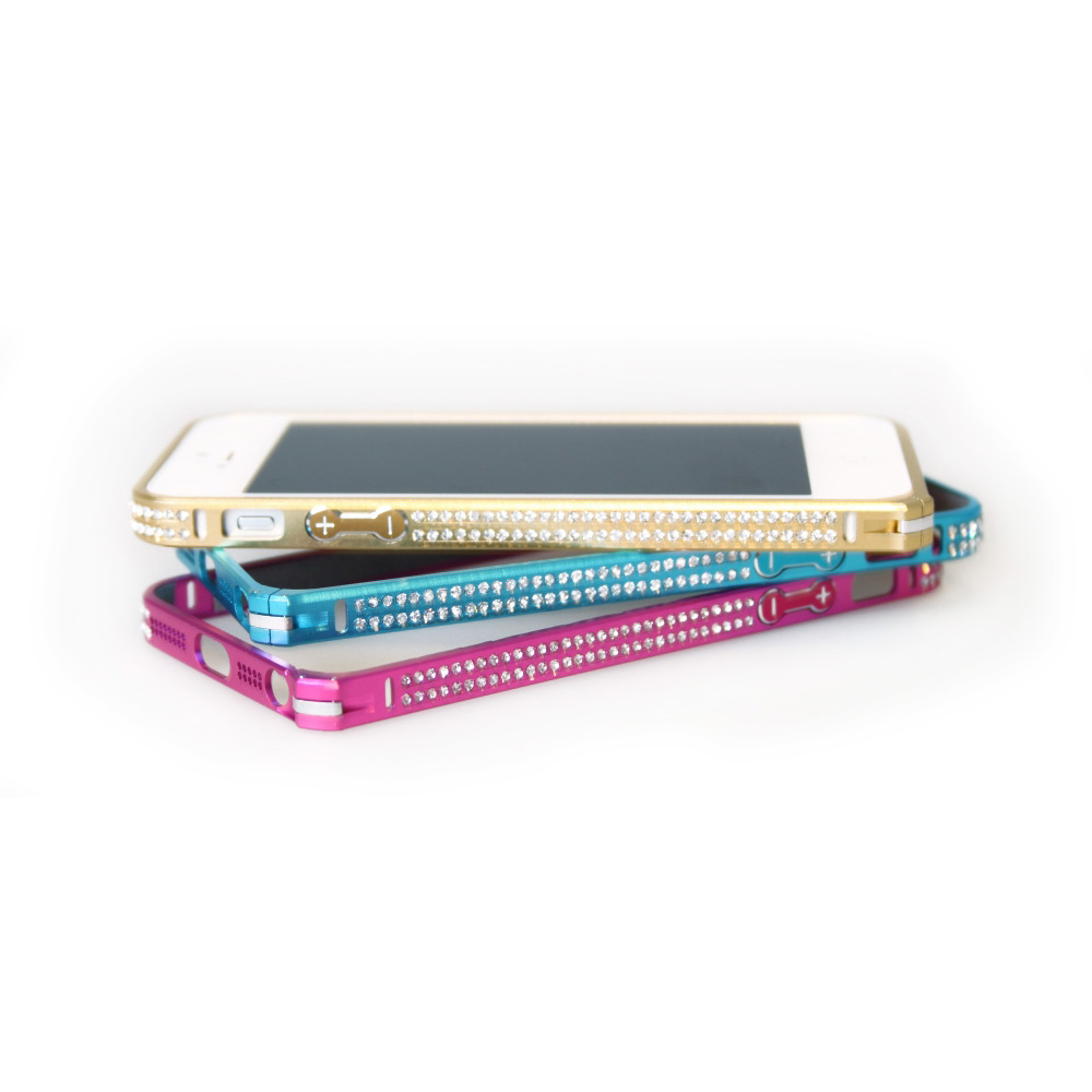 Image of   iPhone 5 Bumper - metal, Fashion style Lys blå