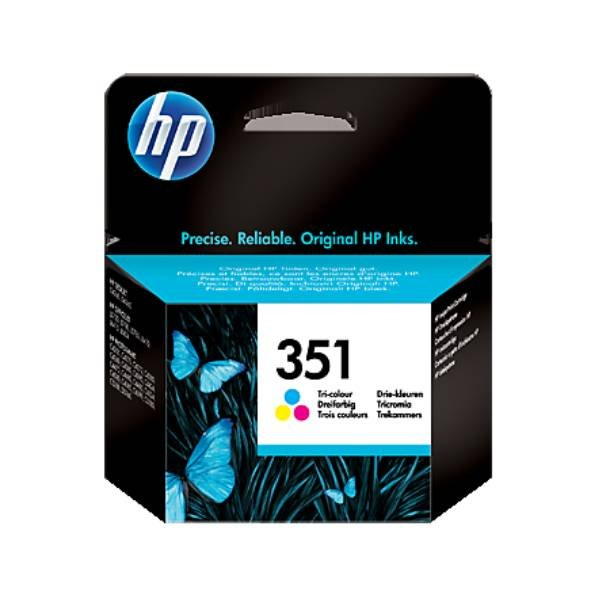 HP 351 CMY (CB337EE) med chip, 3 farve blækpatron,, 3, 5 ml