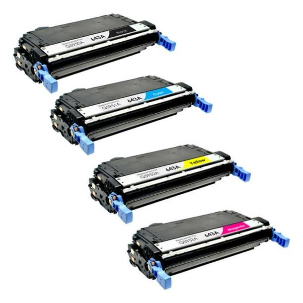 HP 643A combo pack 4 stk lasertoner BK/C/M/Y 41000 sider
