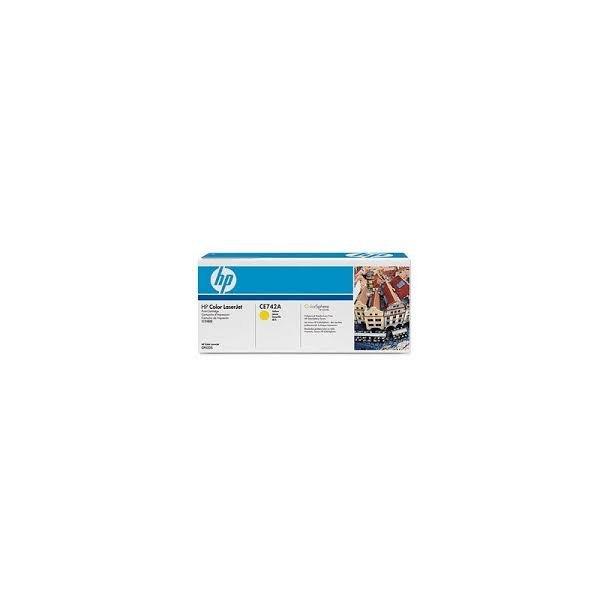 HP CE742A Lasertoner – CE742A  – Gul 7300 sider