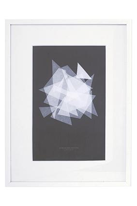 Image of   House Doctor Illustration, Silence, hvid egetræsramme, 30x40 cm