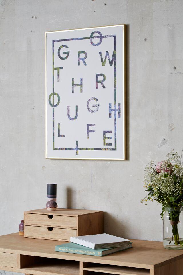 Plakat I Love My Type - Grow Through Life (vælg str.) 50x70 cm