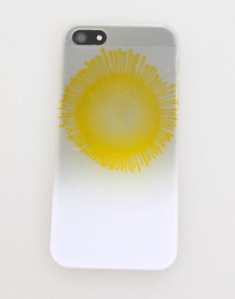 Solsikke cover i gul og hvid iPhone 4/4s