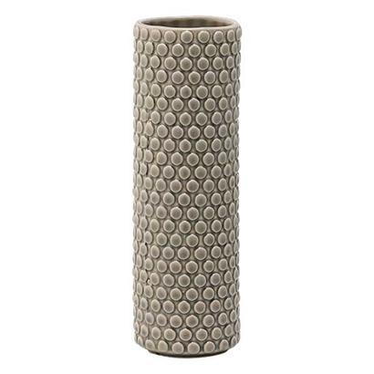 Image of   Bloomingville Vase, Grå, Stentøj højde 25 cm