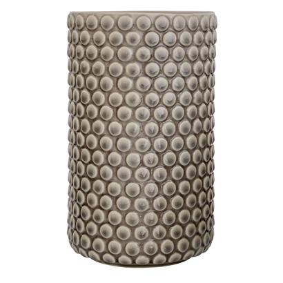 Image of   Bloomingville Vase, Grå, Stentøj Højde 21 cm