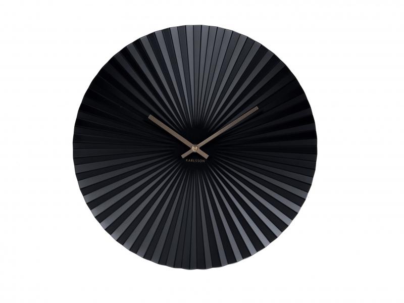 Karlsson Vægur Sensu stål, sort. D. 40cm