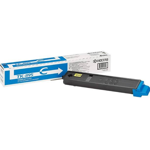 Kyocera TK-895 C lasertoner – 1T02K0CNL0  – Cyan 6000 sider