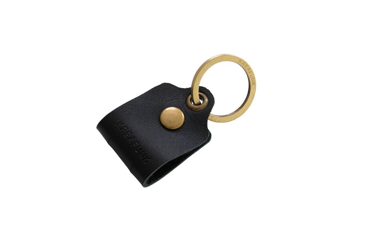 Image of   Kreafunk c-TAG Nøglering med kabelorganiser sort, læder