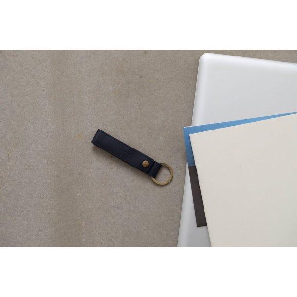 Kreafunk wLOOP, Nøglering m. mini ladekabel blå, læder