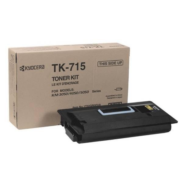 Kyocera TK-715 BK lasertoner – 1T02GR0EU0  – Sort 34000 sider