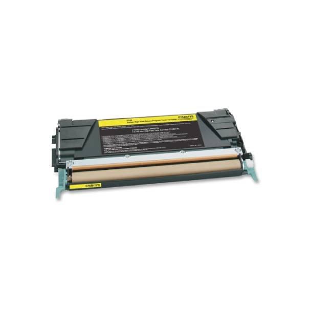 Lexmark C746/C748 Y Lasertoner – C746A1YG Gul 7000 sider
