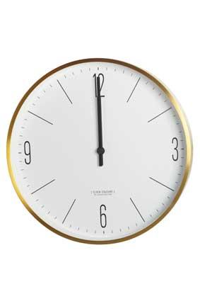 Image of   House Doctor Vægur, Clock Couture, guld/hvid, dia.:30 cm