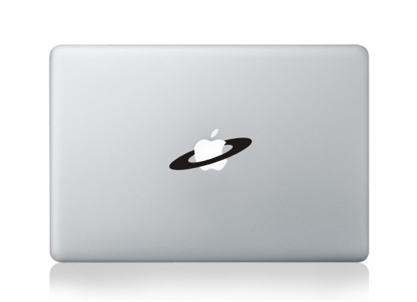 MacBook sticker Saturn Ringe