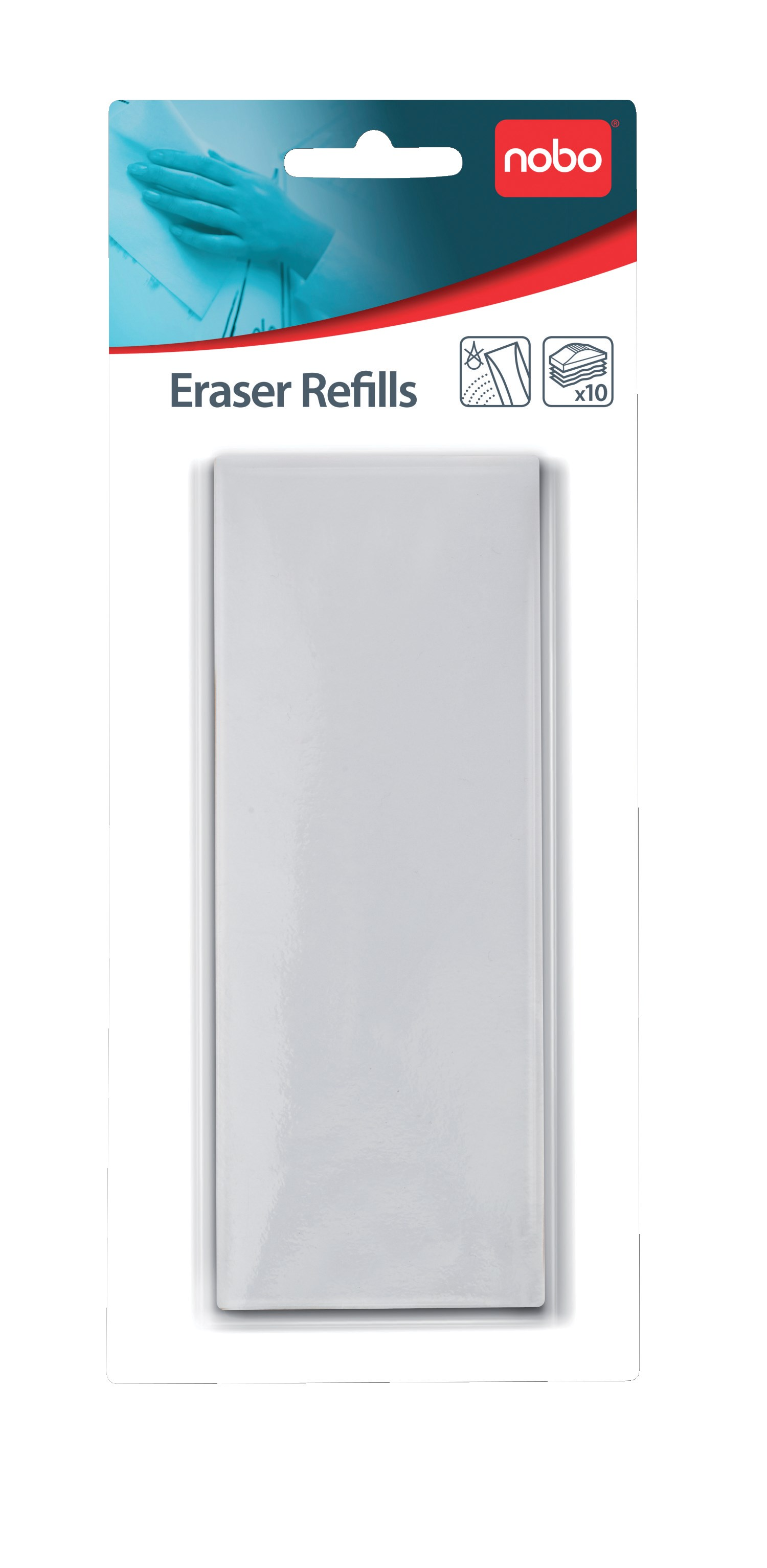 NOBO WB refill puder t/tavlevisker Drywipe 10 stk