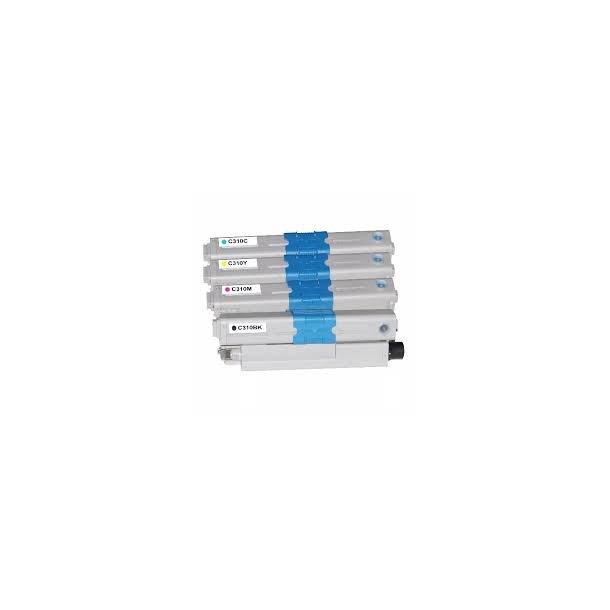 OKI C310 combo pack 4 stk lasertoner BK/C/M/Y 11000 sider