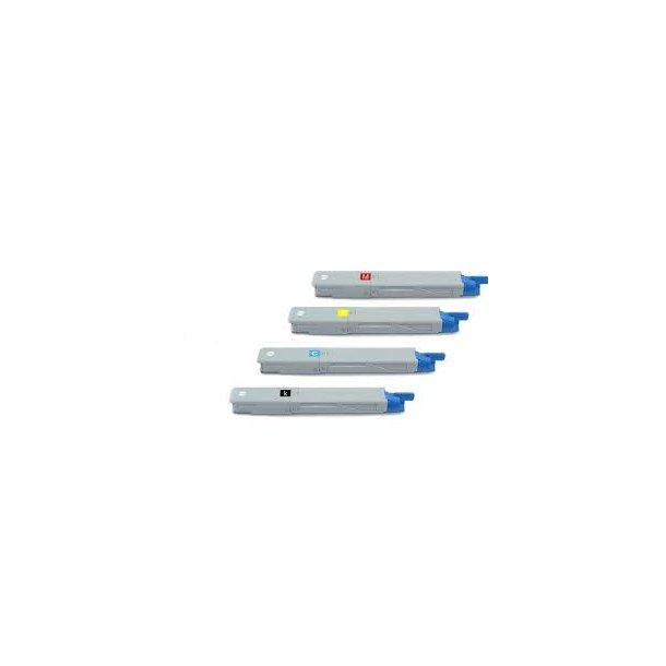 OKI C3300 combo pack 4 stk lasertoner BK/C/M/Y 8500 sider