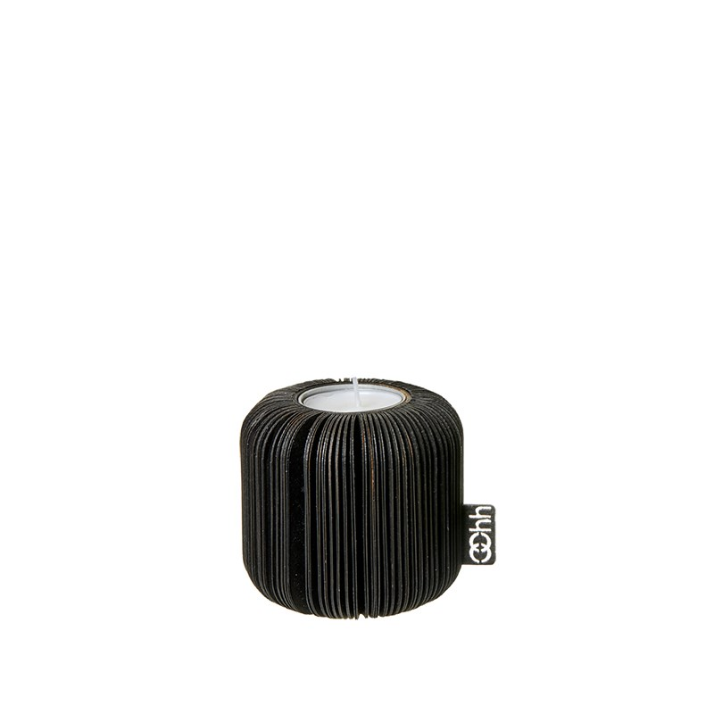 Image of   OOHH Fan tealight holder, Black D8 X H8