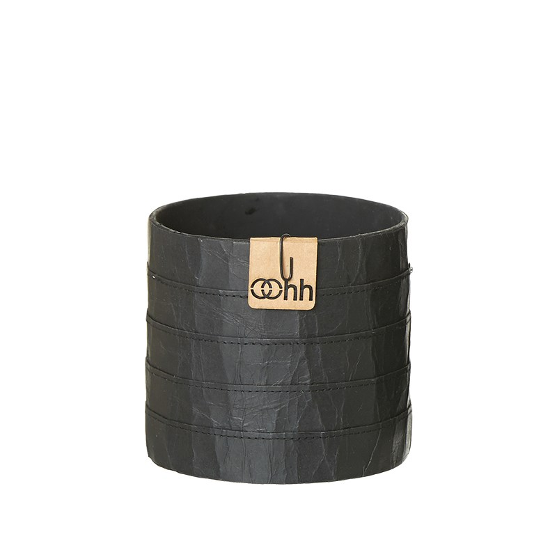 Image of   OOHH Milano Cylinder Pot, Black D11 X H11