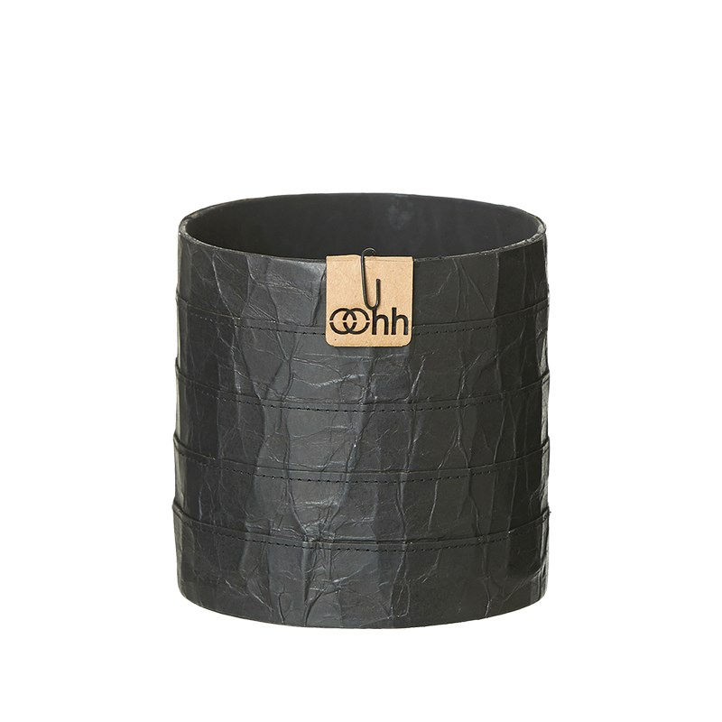 Image of   OOHH Milano Cylinder Pot, Black D13 X H13