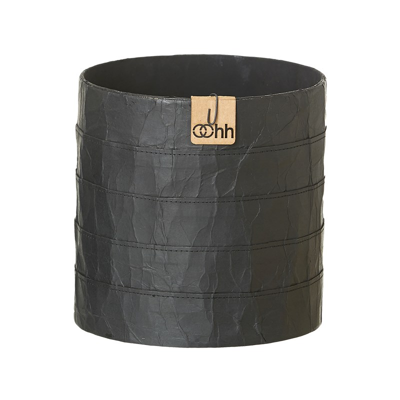 Image of   OOHH Milano Cylinder Pot, Black D17 X H17