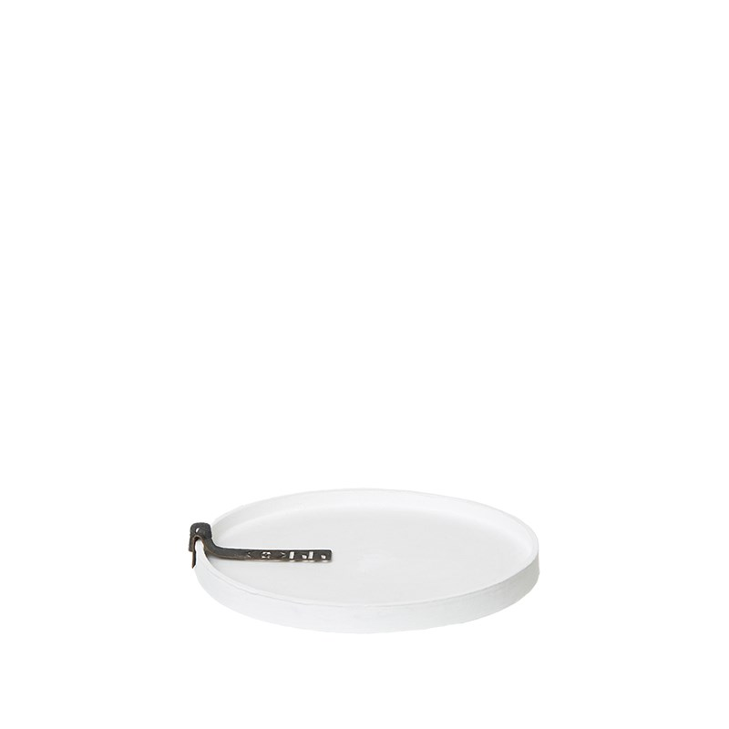 Image of   OOHH Rome Tray/Lid, White D13