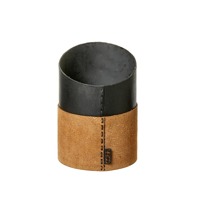 Image of   OOHH Suede office pen holder, Nat D11 X H11 (front)