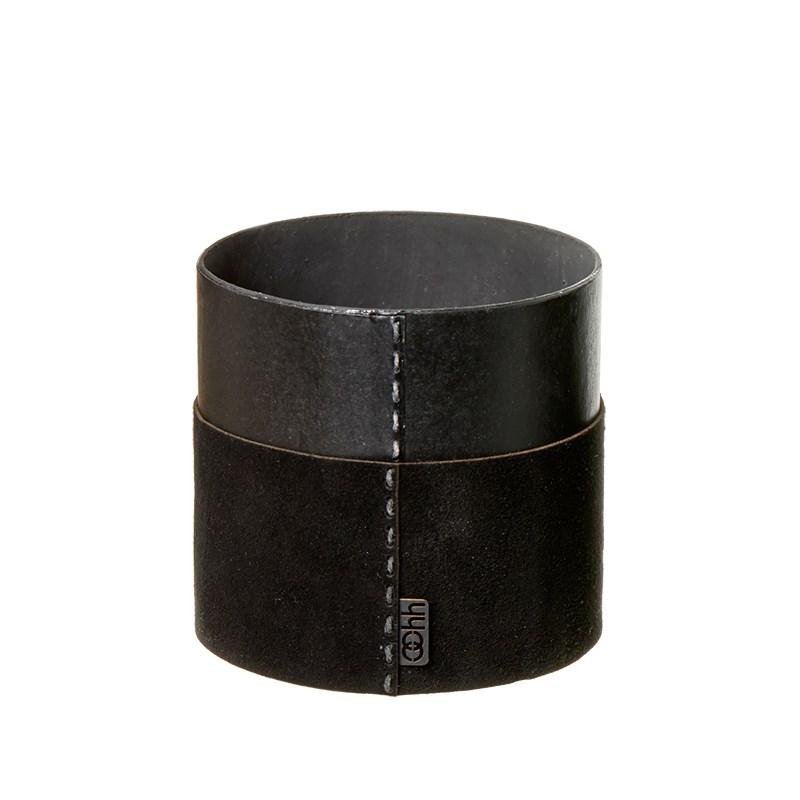 Image of   OOHH Suede cylinder, Black D13 X H13