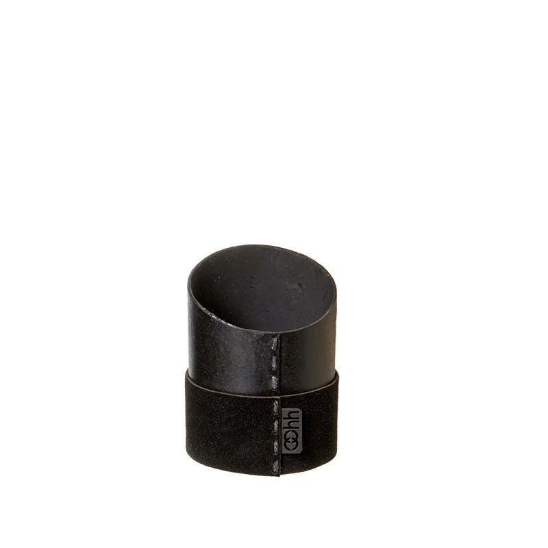 Image of   OOHH Suede office/mini pot, Black D7 X H7 (front)