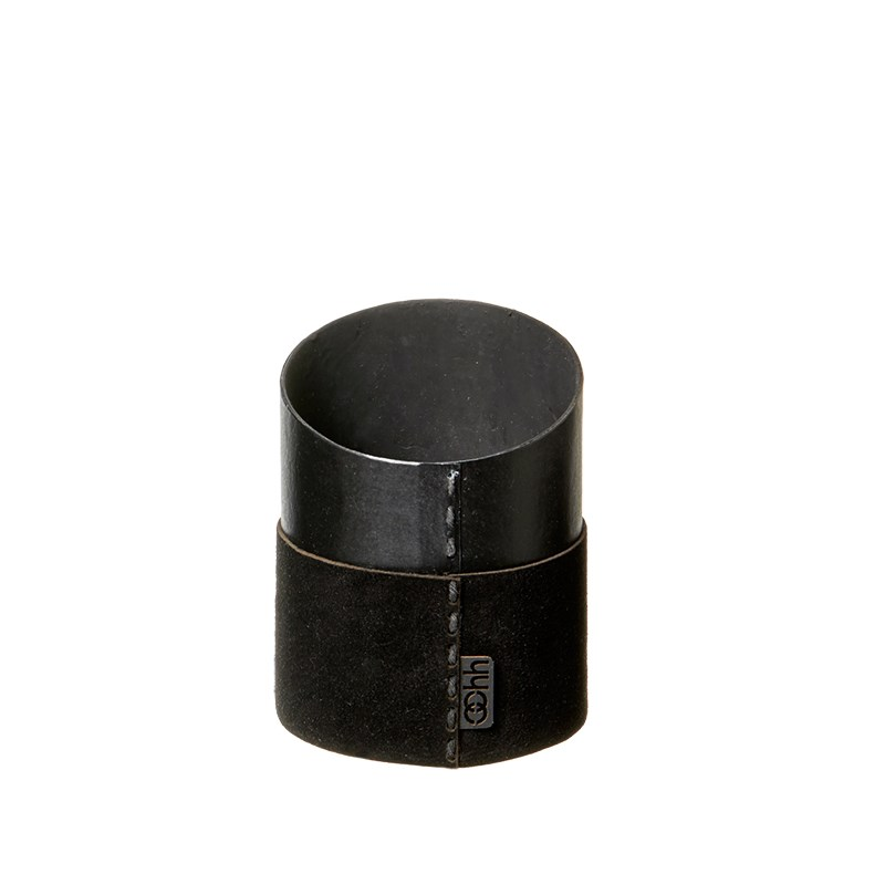 Image of   OOHH Suede office pen holder, Black D9 X H9 (front)
