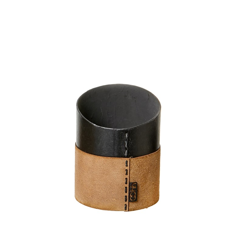 Image of   OOHH Suede office pen holder, Nat D9 X H9 (front)