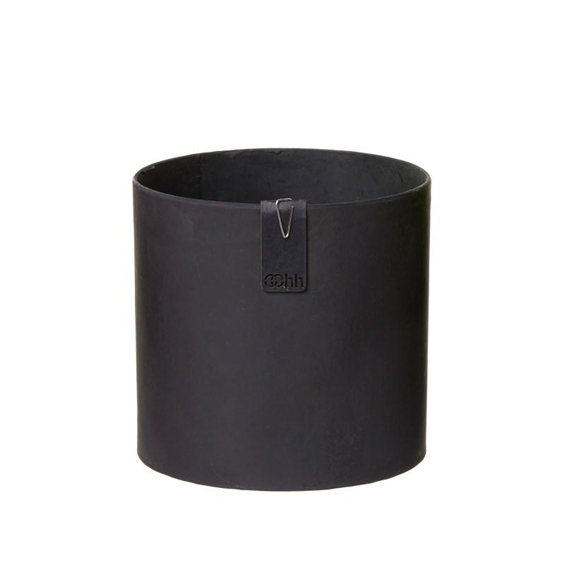 Image of   OOHH Tokyo cylinder Pot, Black D13 X H13