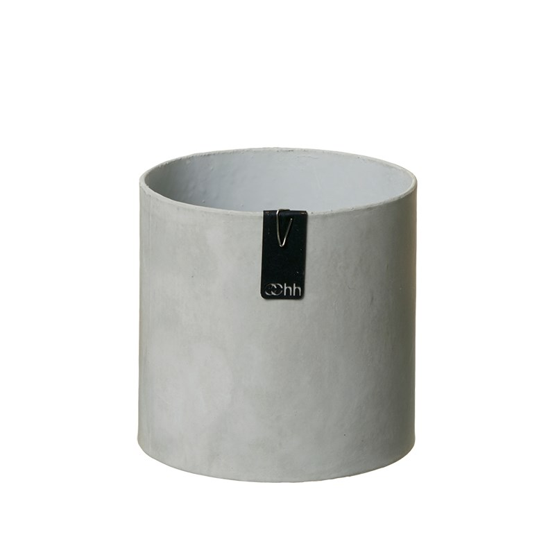 Image of   OOHH Tokyo cylinder Pot, Grey D13 X H13
