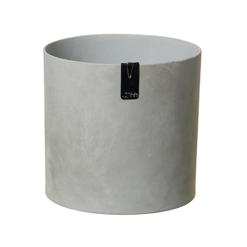 Image of   OOHH Tokyo cylinder Pot, Grey D17 X H17